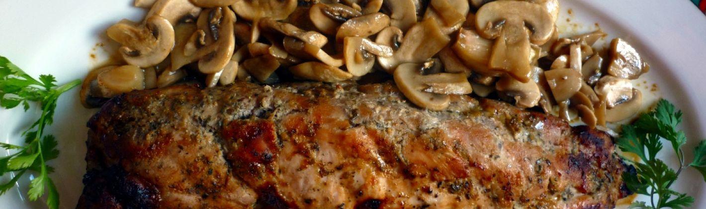Ricetta pancetta arrotolata con funghi