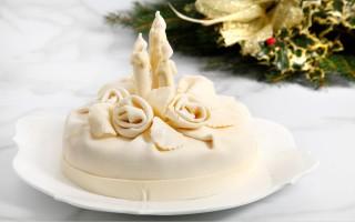 Ricetta torta natalizia ricoperta di cioccolato bianco