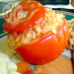 Pomodori ripieni di riso e peperoni