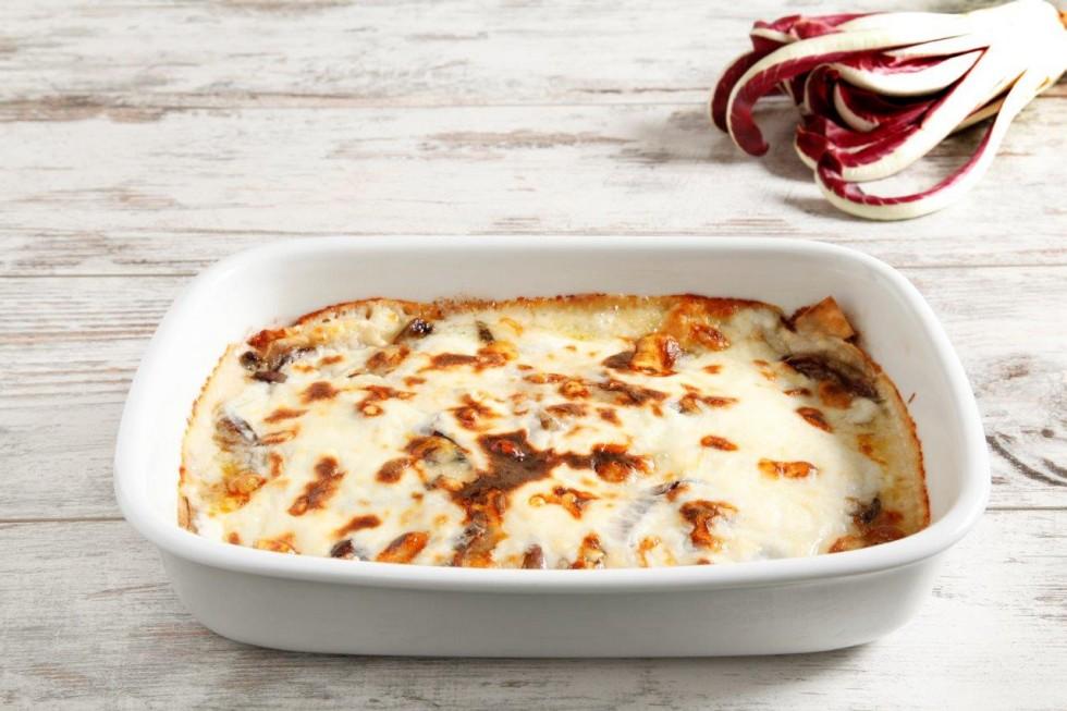 Ricetta lasagne al radicchio e fontina