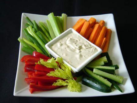 Ricetta cruditè piccante in salsa di gorgonzola
