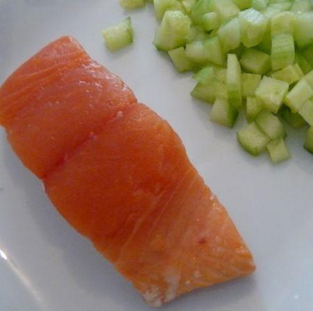 Ricetta sfogliata di salmone e uova di lompo