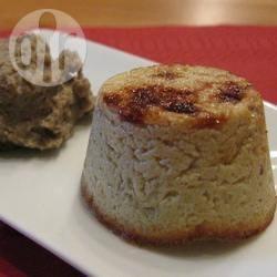 Flan di foie gras su letto di lenticchie