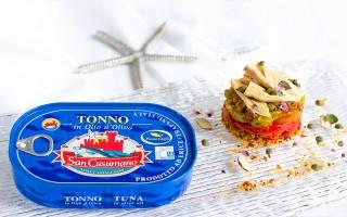 Ricetta caponata croccante di tonno e peperoni