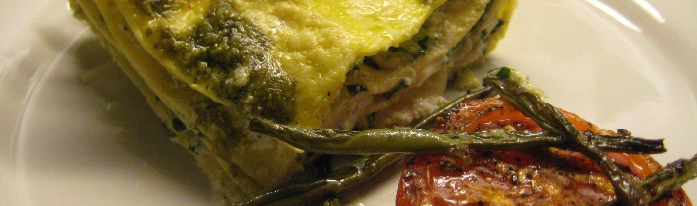 Ricetta lasagne verdi con radicchio e speck