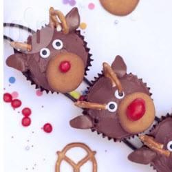 Cupcake a renne di babbo natale