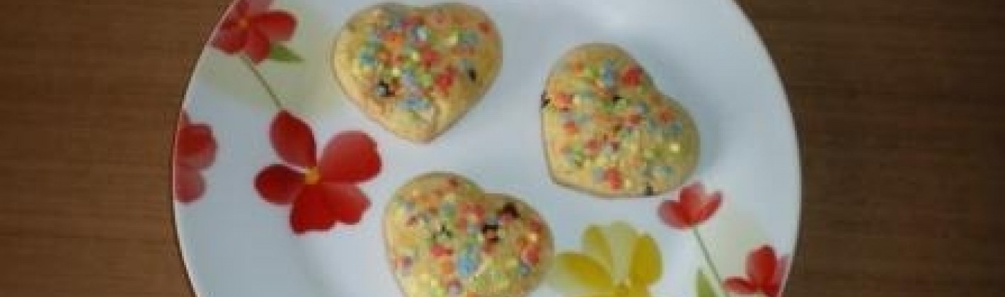 Ricetta cuoricini con gocce di cioccolato