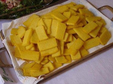 Ricetta crostini di polenta allo stracchino