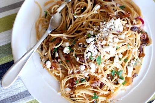 Spaghetti al radicchio