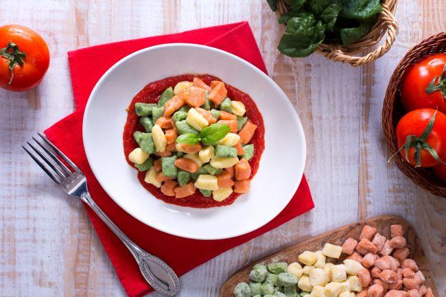 Ricetta chicche di patate tricolore