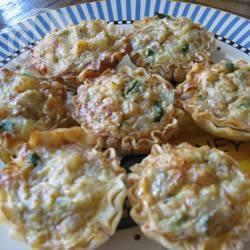 Tartellette funghi e gorgonzola