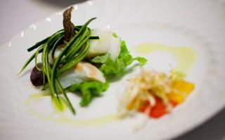 Ricetta insalata di baccalà al vapore con peperoni canditi e porro ...