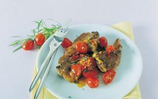 Ricetta costolette all'aglio con pomodorini