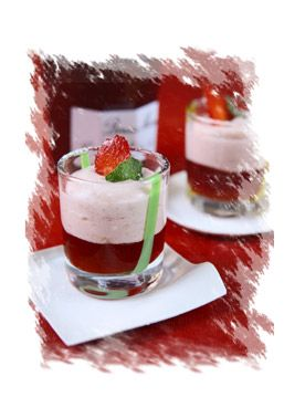 Ricetta biancomangiare alla confettura di fragole e menta