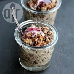 Budino di quinoa vegano