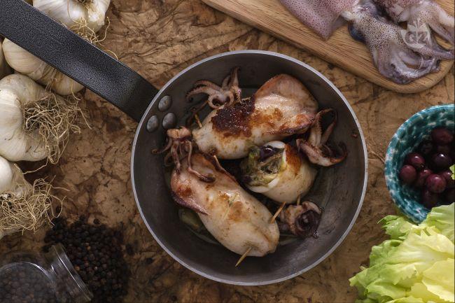 Ricetta calamari ripieni di scarola