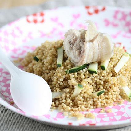 Quinoa con rotolino di sogliola e verdurine