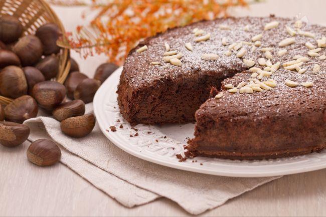 Ricetta torta di castagne e cioccolato