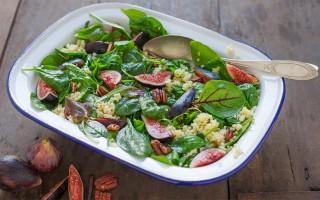 Ricetta insalata di miglio, fichi e noci all'aceto balsamico