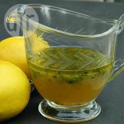 Vinaigrette al limone miele e prezzemolo