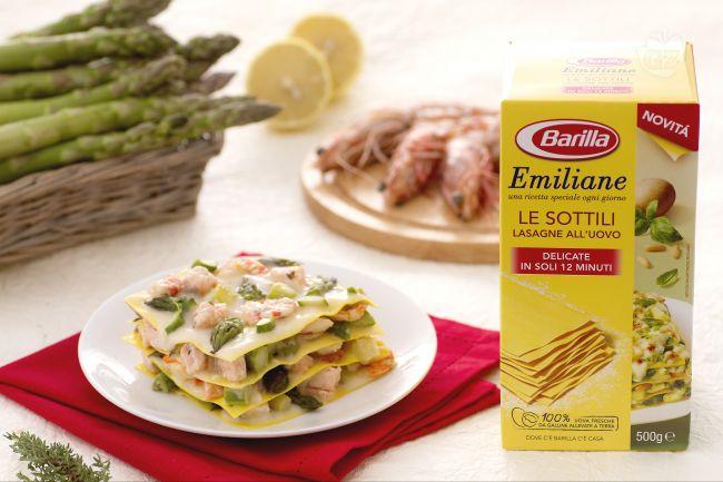 Ricetta lasagne al salmone, mazzancolle e asparagi