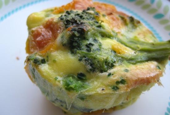 Flan di broccoli con cipolle  microonde