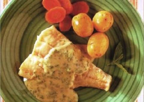 Eglefino con salsa al prezzemolo