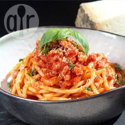 Bucatini all'amatriciana perfetti