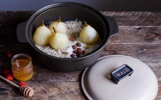 Ricetta porridge d'avena al miele con pere sciroppate