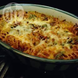 Pasta al forno con spinaci e pancetta