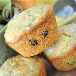 Muffin ai mirtilli e farina di polenta