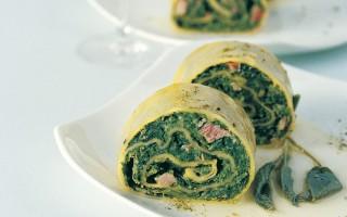 Ricetta rotolo di spinaci al burro e salvia