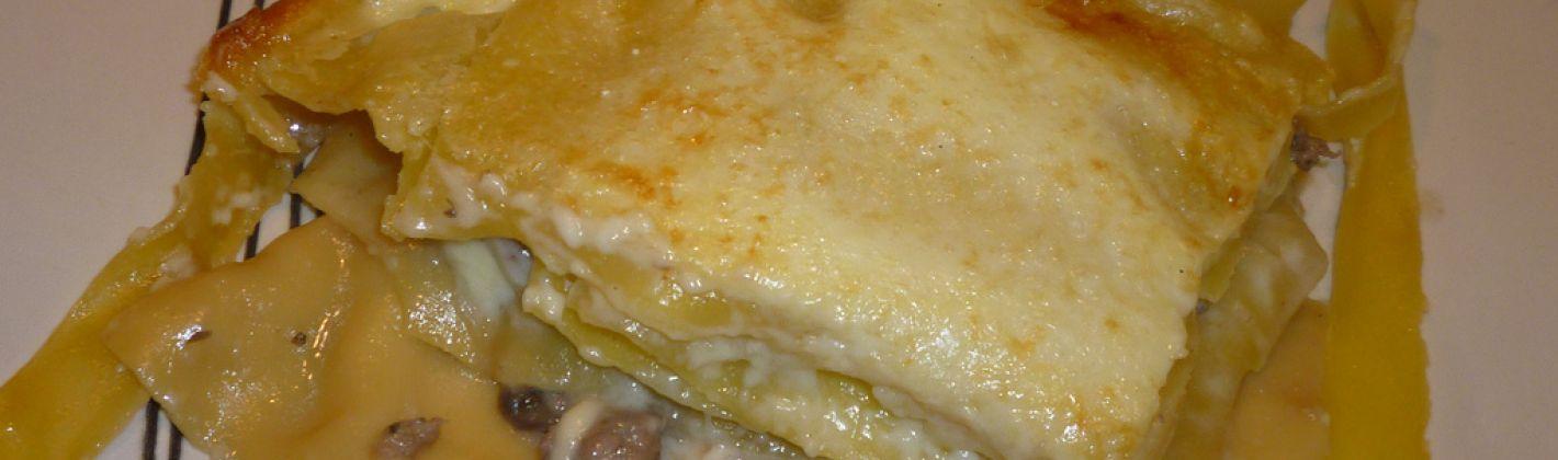 Ricetta lasagne con funghi, speck e carciofi