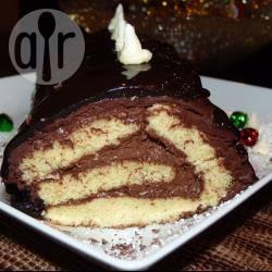 Tronchetto di natale con mousse al cioccolato