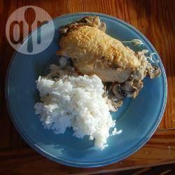 Petti di pollo ai funghi e parmigiano