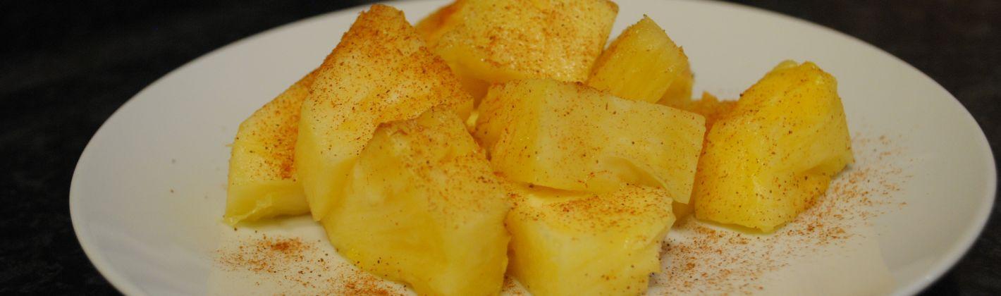Ricetta ananas alla cannella e zafferano