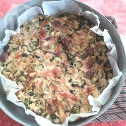 Frittata al forno con zucchine, ricotta e olive