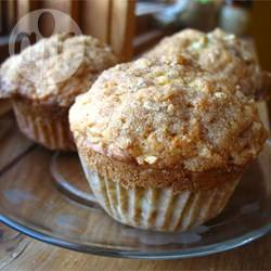 Muffin alle mele e crumble alla cannella