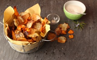 Ricetta chips di verdure al forno