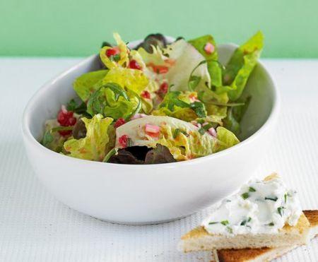 Ricetta insalata con lamponi e caprino