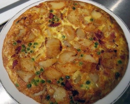 Ricetta frittata con piselli, gamberetti e salsa di soia