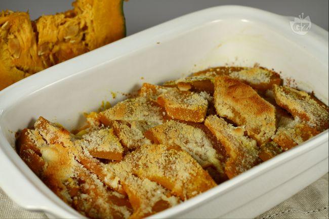 Ricetta zucca gratinata con scaglie di ricotta affumicata