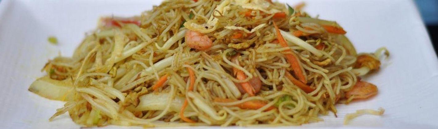 Ricetta spaghetti di riso saltati