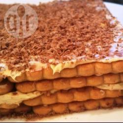 Torta di biscotti al burro con scaglie di cioccolato
