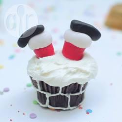Cupcake di babbo natale nel camino