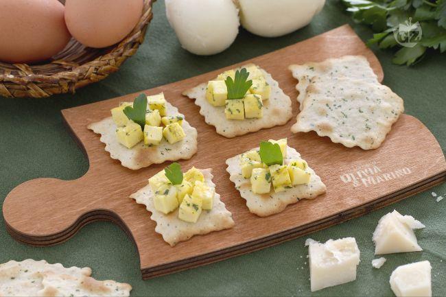 Ricetta sfoglie alle olive con cubetti di frittata