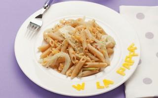 Ricetta penne integrali con finocchi al limone e mollica fritta ...