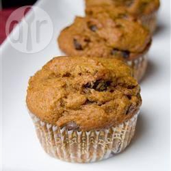 Muffin al cioccolato e zucca senza lattosio