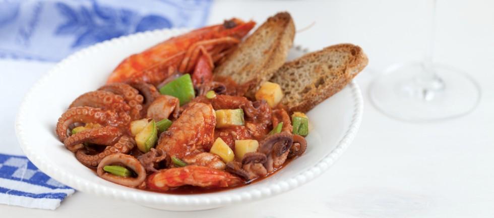 Ricetta cacciucco di pesci e verdure
