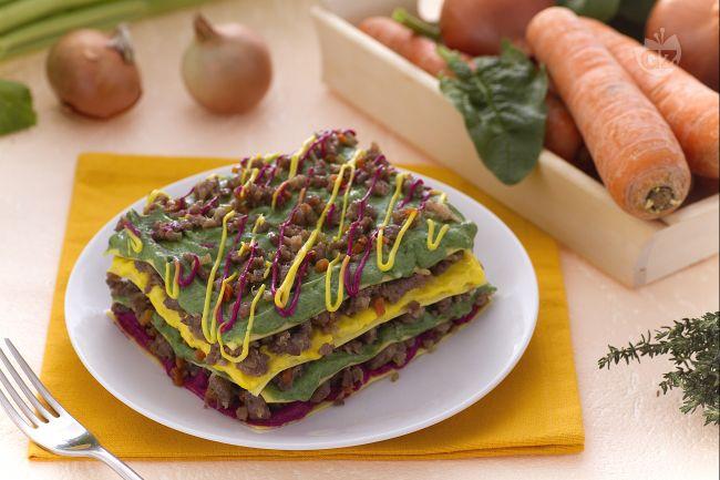 Ricetta lasagne colorate
